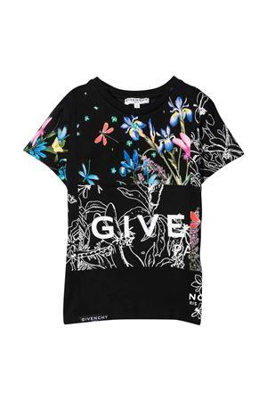 T-shirt nera bambina Givenchy Kids | 8 | H1521809B