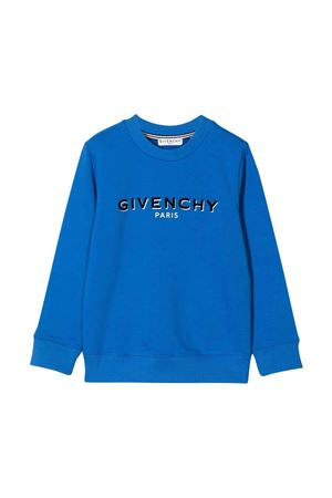 Felpa blu unisex Givenchy Kids | -108764232 | H2527381L