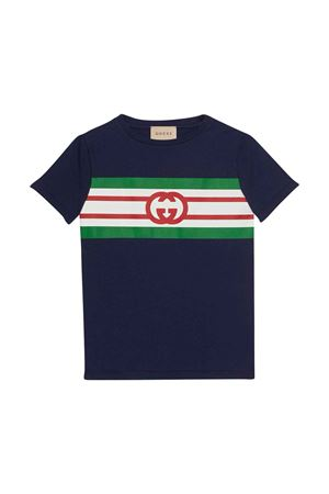unisex blue t-shirt  GUCCI KIDS | 8 | 561651XJDKV4392