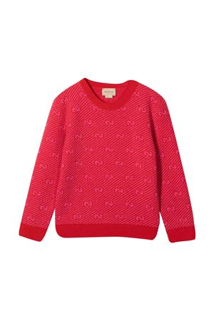 Maglione rosso bambina GUCCI KIDS   7   638305XKBNH6513