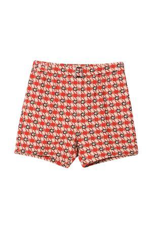 Shorts bambino rosso panna GUCCI KIDS | 30 | 653762XJDLU9376
