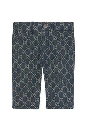 Blue trousers with logo GUCCI KIDS | 9 | 657478XDBOW4266