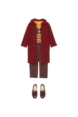 Red coat with logo GUCCI KIDS | 17 | 660978XWAPD6159