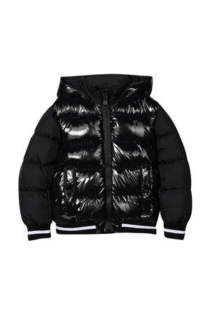 Black teen down jacket with hood HERNO KIDS | 783955909 | PI0112B122209300T
