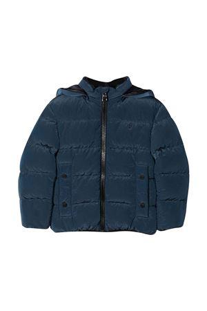 Blue down jacket with print HERNO KIDS | 783955909 | PI0122B124969020