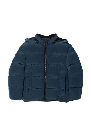 Blue teen down jacket with print HERNO KIDS | 783955909 | PI0122B124969020T