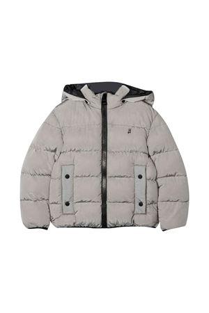 Gray down jacket with hood HERNO KIDS | 783955909 | PI0122B124969400