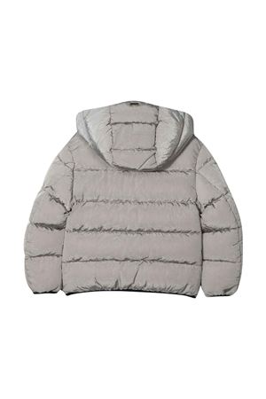 Gray teen down jacket with hood Herno kids HERNO KIDS | 783955909 | PI0122B124969400T