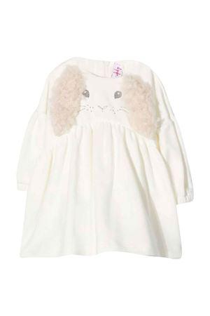 White dress with  inserts IL GUFO   11   A21VL445M00991010