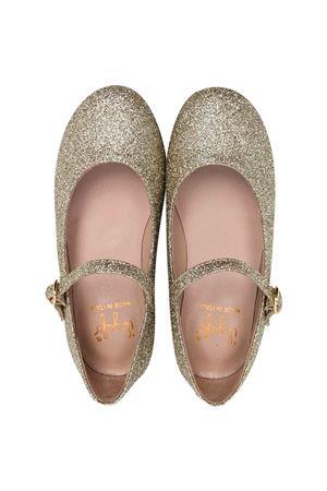 gold ballet flats  IL GUFO | 12 | G234ORO