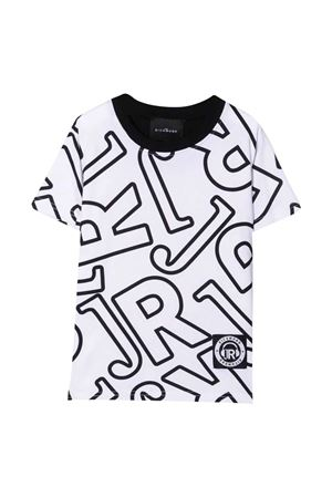 T-shirt teen bianca con stampa nera JOHN RICHMOND KIDS   8   RBA21001TSWHITE/BLACKT