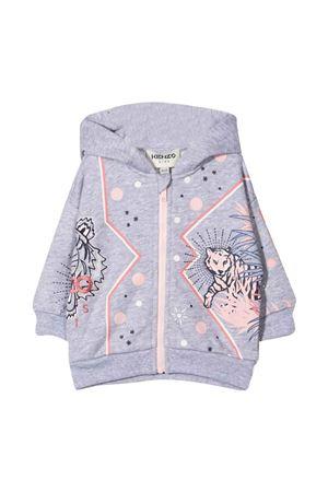 Gray sweatshirt with hood KENZO KIDS | 5032280 | K05070A41