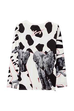 T-shirt bianca teen KENZO KIDS | 8 | K15162152T