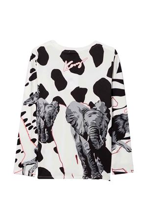 T-shirt bianca unisex KENZO KIDS | 8 | K15162152