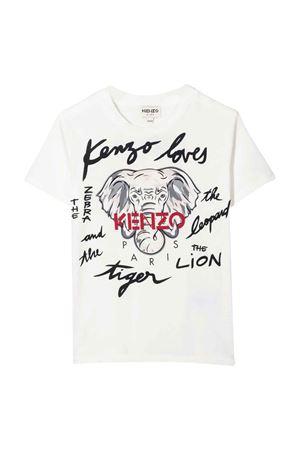 unisex cream t-shirt  KENZO KIDS | 8 | K25172152