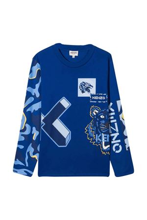 T-shirt blu unisex teen KENZO KIDS | 8 | K25186829T