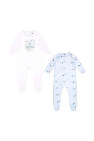 Pair of Kenzo kids light blue baby rompers  KENZO KIDS | 42 | K90031777