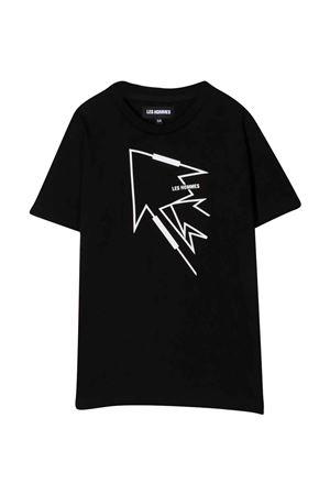 T-shirt nera teen con logo Les HOMMES | 8 | KLT210739P9000T