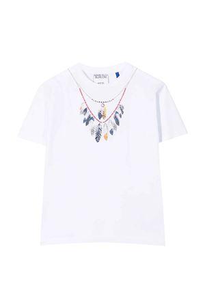 T-shirt bianca con stampa Marcelo Burlon kids | 8 | CBAA002F21JER0030145