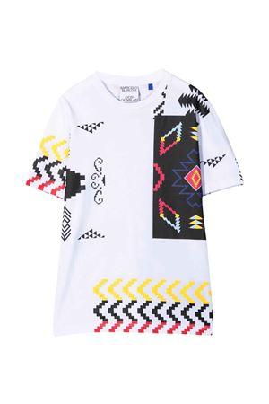 T-shirt bianca con stampa multicolor Marcelo Burlon kids | 8 | CBAA002F21JER0050184