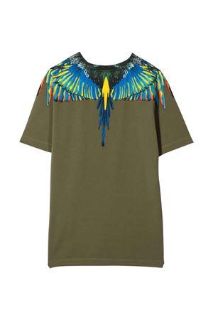 T-shirt verde con stampa multicolor Marcelo Burlon kids | 8 | CBAA002F21JER0085641