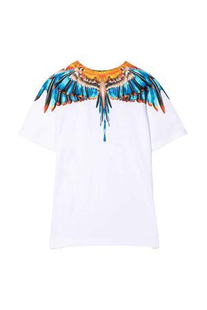 T-shirt bianca con stampa multicolor Marcelo Burlon kids | 8 | CBAA002F21JER0090140