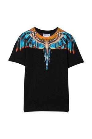 T-shirt nera con stampa multicolor Marcelo Burlon kids | 8 | CBAA002F21JER0091040
