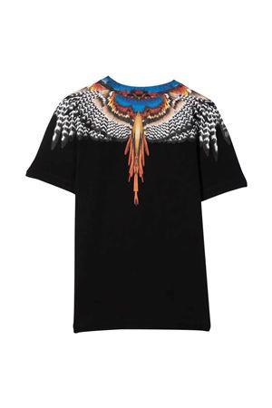 T-shirt nera con stampa multicolor Marcelo Burlon kids | 8 | CBAA002F21JER0101020