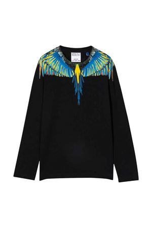 Shirt nera a maniche lunghe con stampa multicolor Marcelo Burlon kids | 8 | CBAB004F21JER0051041