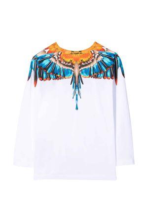 Shirt bianca a maniche lunghe con stampa multicolor Marcelo Burlon kids | 8 | CBAB004F21JER0060140