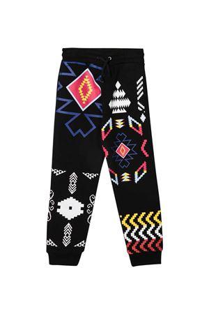 Pantaloni neri con stampa multicolor Marcelo Burlon kids | 9 | CBCA003F21FLE0031084