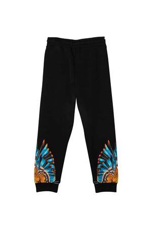 Pantaloni neri con stampa multicolor Marcelo Burlon kids | 9 | CBCA003F21FLE0061040