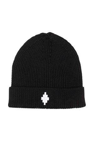 Cappello nero con logo bianco Marcelo Burlon kids | 75988881 | CBLC002F21KNI0011001