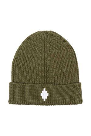 Cappello verde con logo bianco Marcelo Burlon kids | 75988881 | CBLC002F21KNI0015601