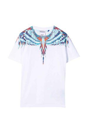 T-shirt bianca con stampa multicolor Marcelo Burlon kids | 8 | CGAA001F21JER0020149