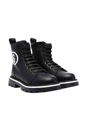 unisex black combat boots MM6 KIDS | 76 | 689791