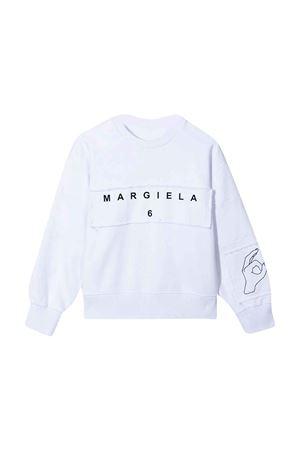 white teen sweatshirt  MM6 KIDS | 7 | M60027MM008M6100T