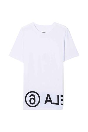 unisex white t-shirt  MM6 KIDS | 8 | M60033MM010M6100T