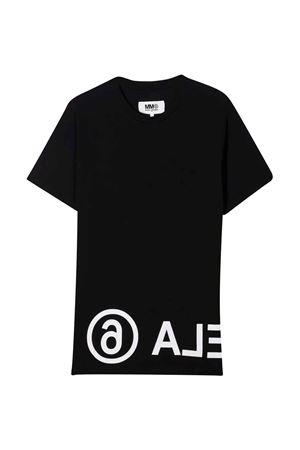 unisex black t-shirt  MM6 KIDS | 8 | M60033MM010M6900