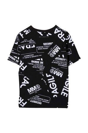 unisex black t-shirt MM6 KIDS | 8 | M60040MM033M6900