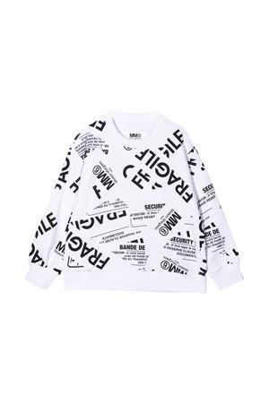 unisex white sweatshirt  MM6 KIDS | -108764232 | M60041MM013M6100