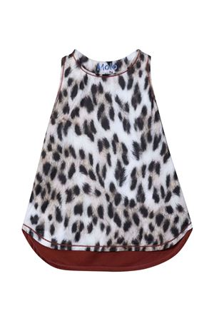 Sleeveless blouse with leopard print MOLO | 40 | 2W21A1056403
