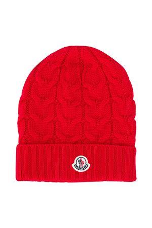 Moncler kids red cap  Moncler Kids | 5032340 | 3B7152004S02455