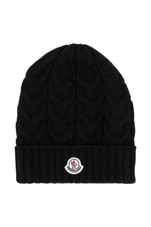 unisex black cap  Moncler Kids   5032340   3B7152004S02999