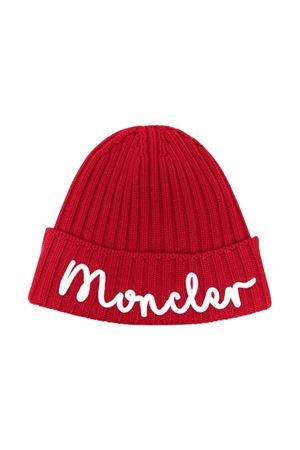 Ribbed cap with embroidery Moncler Kids | 5032340 | 9Z74920M1131455