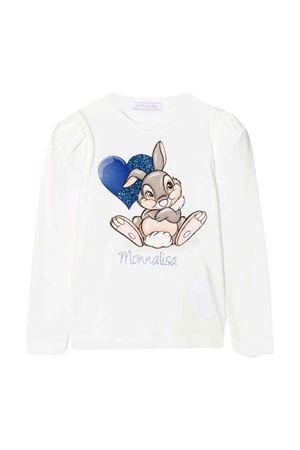 T-shirt bianca bambina Monnalisa kids   8   118629P882010001