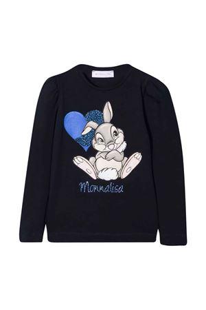 T-shirt blu bambina Monnalisa kids   8   118629P88201056S