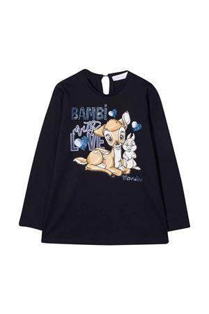T-shirt blu bambina Monnalisa kids   8   118630P98206056S