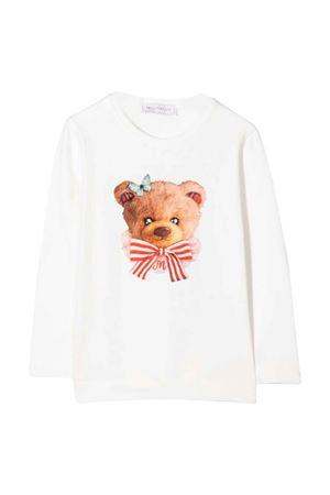 White t-shirt with frontal print Monnalisa kids   8   118636SJ82010001