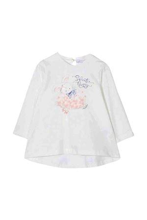 White t-shirt with multicolor print Monnalisa kids | 8 | 318622PZ82060001